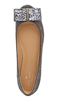 kate spade flats for winter. so cute!