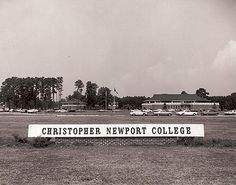 Christopher Newport College First Decaders 1961 - 1971 Newport News Virginia, Virginia Beach, Jamestown Colony, Virginia History, Hampton Roads, Old Building, Portsmouth, College Life, The Hamptons