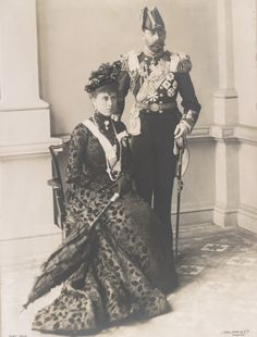 King George V and queen Mary of England.
