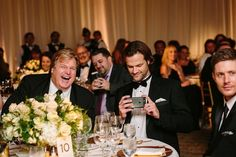 Jared And Jensen, Supernatural Cast, Table Settings, Party, Wedding, Instagram, Friends, Photos, Free