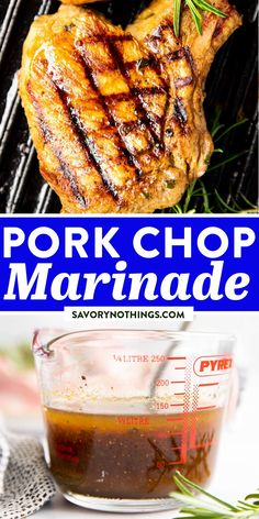 This is the best easy pork chop marinade recipe! It's great for pork chops on the grill, but you can make them on the stove in a grill pan, too. Simple ingredients, pantry staples, and only 5 minutes of prep time! #porkchop #marinade #easyrecipes #summerrecipes #grilling #bbq Grilling Recipes, Pork Recipes, Slow Cooker Recipes, Easy Recipes, Easy Family Dinners, Quick Easy Meals, Easy Pork Chop Marinade, Pinterest Recipes, Kid Friendly Meals