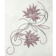Rhinestone Hot Fix Motif Crystal Fashion Design Flowers Lotus Home Decor   eBay