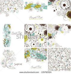 Vector Art Floral Abstract Stockfotos und -bilder | Shutterstock