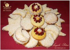 Biscuits, Romanian Food, Romanian Recipes, Christmas Cookies, Pineapple, Good Food, Spices, Food And Drink, Ice Cream