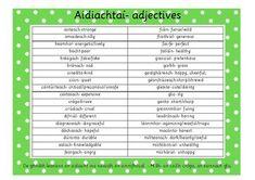 Aidiacht Glance Card