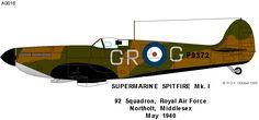 Supermarine Spitfire | Great Britain | 92 Sqn, RAF | Spitfire Mk.I ...1940