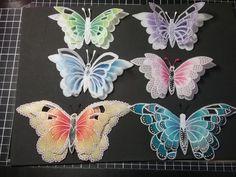 Vellum Crafts, Vellum Paper, Paper Cards, Paper Butterflies, Butterfly Cards, Paper Flowers, Parchment Design, Parchment Cards, Butterfly Decorations