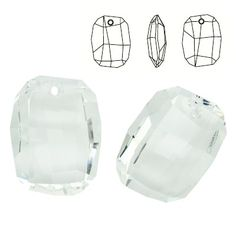 6685 Graphic 28mm Crystal  Dimensions: 28,0 mm Colour: Crystal 1 package = 1 piece