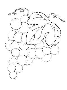 grapes trace line worksheet for kids (1)