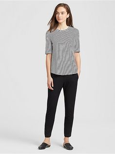 Shop our collection of womens tops and tees for an effortlessly casual look. Available in silk, organic linen, and organic cotton. Find your perfect top. Interview Shoes, Ranger, Tee Shirts, Tees, Eileen Fisher, Casual Looks, Organic Cotton, Tunic Tops, Clothes