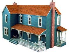 R14-3059 - Farmhouse Dollhouse Vintage Woodworking Plan