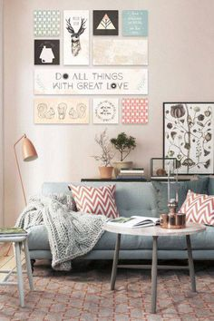 61 Ideas Wall Collage Decor Living Room Color Schemes For 2019 Diy Room Decor, Living Room Decor, Living Rooms, Champs Sur Marne, Wall Collage Decor, Wall Mural, Wall Decor, Wall Art, Cozy Couch
