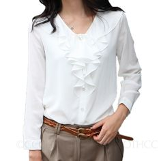 Kind-Hearted Plus Size Bow Collar Long Sleeve Chiffon Blouse Women 2018 Fashion White & Black& Dark Red Shirt Spring Autumn Ladies Tops Less Expensive Women's Clothing