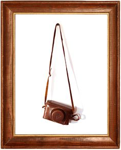 wall art - old wooden frame with vintage camera - photography by Mandi Scholtz