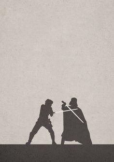 Duel Star wars stencil