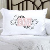 Personalized Felicity Cheerful Monogram Pillow Case {9 colors}