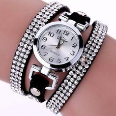 35235495bad Bts v fashion style duoya casual style crystal ladies bracelet watch luxury  fine leather winding women quartz watches