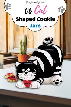 Need a cat shaped cookie jar? Then you should check out these 6 different styles of cat shaped cookie jars. #catloversgiftsideas #catlovergift #cookiejars #jar