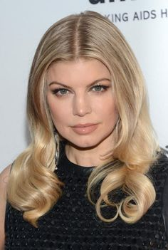 20 Celebrity Hair Styles for Round Faces: Fergie