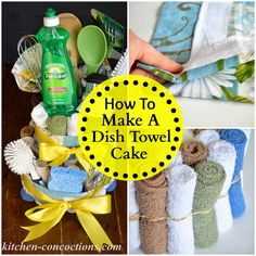 Kitchen Concoctions: Creative Soap Ideas: Dish Towel Cake (Step-by-Step Tutorial) #Palmolive25Ways #cbias