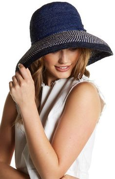 Shop Now - >  https://api.shopstyle.com/action/apiVisitRetailer?id=618201452&pid=uid6996-25233114-59 Helen Kaminski Provence 12 Colorblock Hat  ...