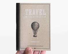 Travel details                                    black and white letterpress notebook by ARMINHO, $4.00