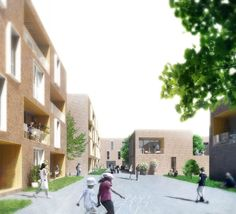 Lübeck Housing First Prize Winning Proposal / WE Architecture + Dissing & Weitling + TOPOS