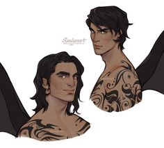 A Court Of Wings And Ruin, A Court Of Mist And Fury, Throne Of Glass, Fanart, Charlie Bowater, Feyre And Rhysand, Bat Boys, Sarah J Maas Books, Crescent City