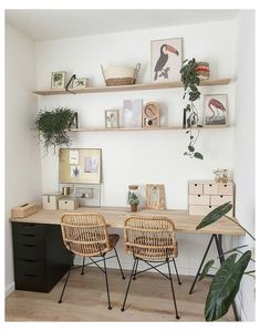 Home Office Space, Home Office Design, Home Office Decor, Office Ideas, Office Decorations, Office Set, Office Workspace, Room Ideas Bedroom, Bedroom Decor