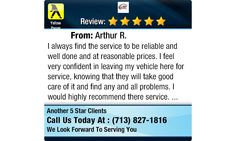 I always find the service to be reliable and well done and at reasonable prices. I feel...
