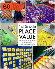 Grade math is the best. It's hands-on, it's game-based, and it's fun. Using a guided math model, it allows the freedom for me to tailor lessons to each of my learners. We've started learning about Teaching Place Values, Teaching Math, Teaching Ideas, Teaching Materials, Kindergarten Math, Teaching Time, Teaching Tools, 1st Grade Centers, Math Centers