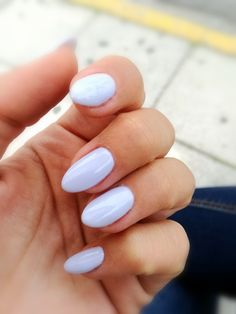 Almond baby blue nails