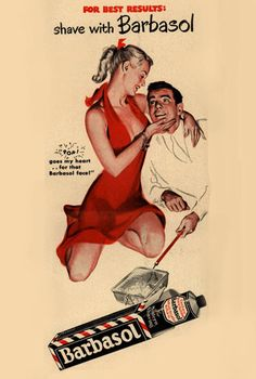 Barbasol Shaving Cream 1948 Pin-Up Girl What - Mad Men Art: The 1891-1970…