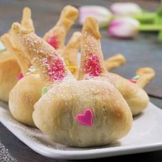 These adorable chocolate, candy-stuffed crescent bunnies will be a winner with your kids on Easter. These Crescent-Stuffed Crescent Bunnies are so easy to make even your kids can help you bake! Filled with chocolate and topped with candy in the shape of a bunny – what's not to love?
