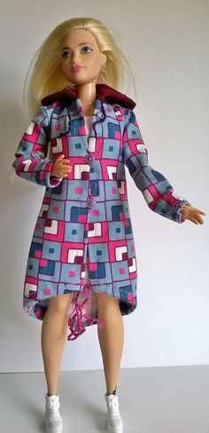 Curvy barbie Parka im Retro Look aus Jersey