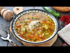 Chicken soup like my grandmother's from Oltenia My Grandmother, Romanian Food, Tasty, Yummy Food, Chicken Soup, Cheeseburger Chowder, Bacon, Curry, Food And Drink