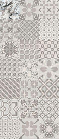 Badrummet 1900: Tassel Perla - 20x20cm. | Bodenfliesen - Rotscherbiege Steingutfliesen | VIVES Azulejos y Gres S.A.