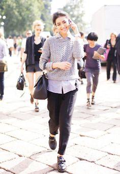 Liu Wen streetstyle