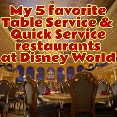 I sometimes share dining info about Disney World restaurants but don't often talk about which locations I really like. Today, I'm telling you my 5 favorite Quick