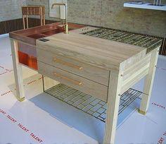 Contemporary Kitchen Table Design by Daniel Heckscher Kitchen Furniture, Furniture Design, Gas Grills On Sale, Contemporary Kitchen Tables, Sink Units, Investment Property, Kitchen Remodel, Kitchen Design, Kitchen Islands