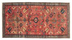 Oushak carpet 133x248