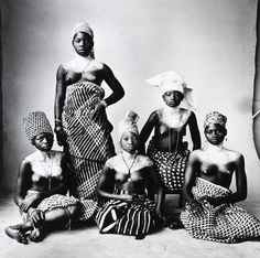 Five Turbanned Dahomey Women by Irving Penn, 1967. Dahomey in west Africa is now the Republic of Benin