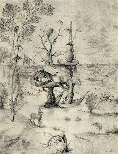 The Man Tree. 1475-1516. pen and brown ink on paper. 27.7 × 21.1 cm (10.9 × 8.3 in). Vienna, Graphische Sammlung Albertina.
