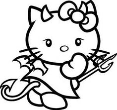 Hello Kitty Halloween Coloring Pages - Bing Images