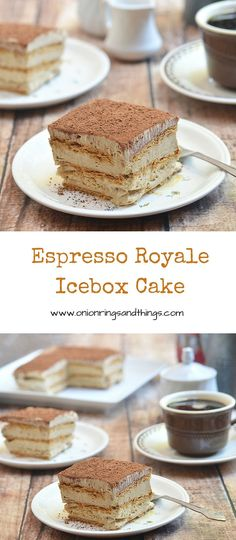 Espresso Royale Icebox Cake is a refrigerator cake made with delicious layers of graham crackers and coffee-laced mousse; so simple to make, you're just 5 ingredients away from this delightful treat
