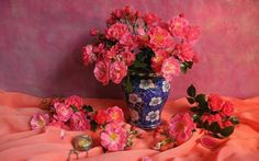 Photography Still Life  Flower Rose Pink Rose Pink Flower Vase Wallpaper