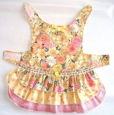 DOG Dress Harness 3 layer cake Ruffled Puppy dress or small pet clothes