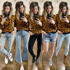 5 ways to style a leopard sweater