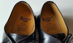 Dr Martens Black Leather Shoe 1461/3 Eyelet/Vintage/Made in England/Size 12 UK
