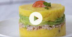 How to Make Peruvian Causa (crab potato avocado) via @PureWow